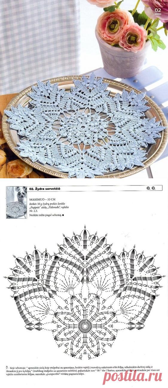 Вязание снежинок крючком: схемы с описанием пошагово.