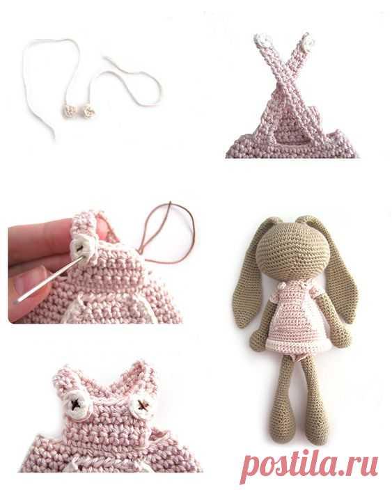 Хотите милую и очень приятную игрушку? Тогда эта зайка амигуруми точно для вас! Понятная и подробная амигуруми схема поможет создать прекрасную игрушку.