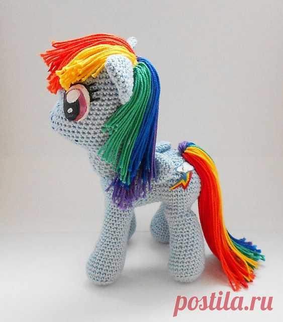 Игрушка Литл пони (Little Pony) крючком. Описание