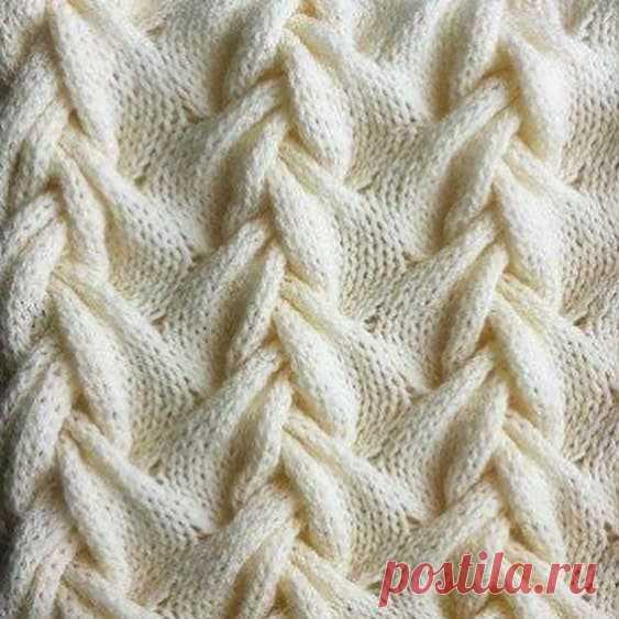 Красивая коса для вязания спицами.