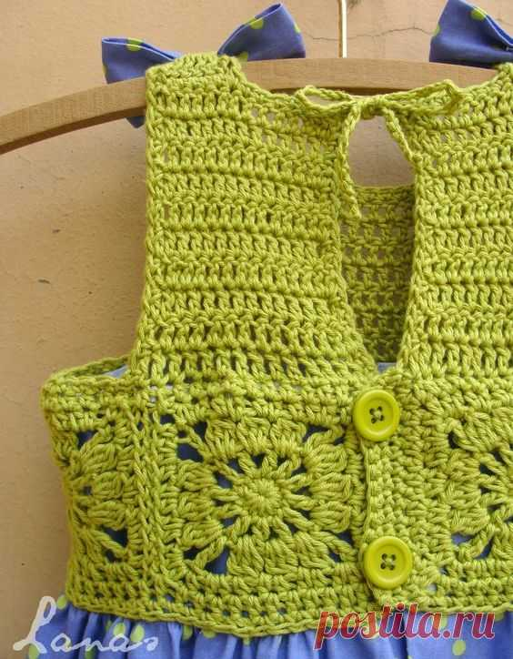 (Crochet) And here is the third and final dress for my friend's daughter (check the first two here: SummerDress #1, in bright pink ; Summer Dress #2, in turquoise)… Este es último vestido que le…