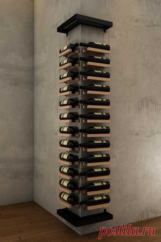 Угловая полка для вина Модная одежда и дизайн интерьера своими руками