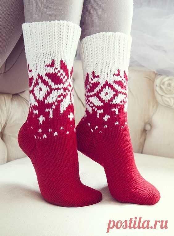 жаккардовые новогодние узоры для вязания носков подборка подборка