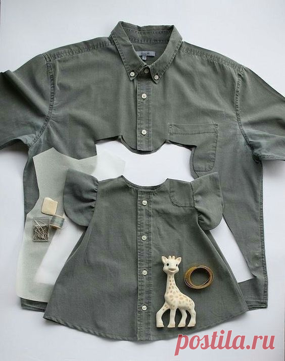 Что можно сшить из папиной рубашки? Идеи, шаблоны и выкройки!