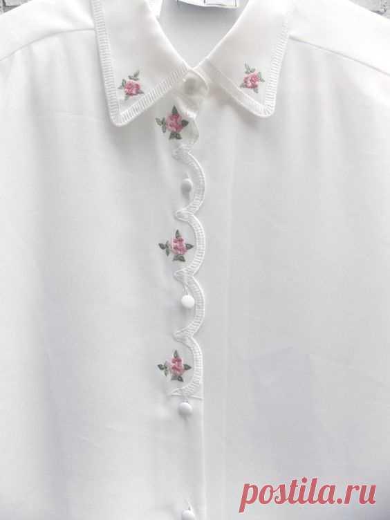 Блузки с вышивкой Модная одежда и дизайн интерьера своими руками