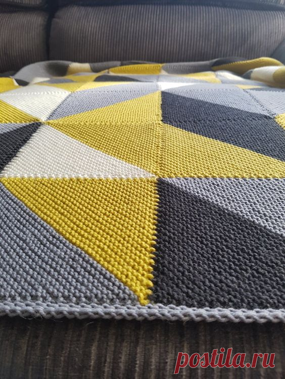 Пледы и вязаные одеяла из отдельных фрагметов - спицами. Идеи для воплощения. | Юлия Жданова | Яндекс Дзен