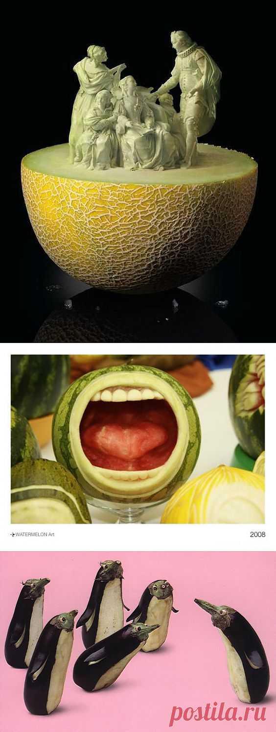 Карвинг из фруктов и овощей: не только красивое, но и вкусное искусство!
