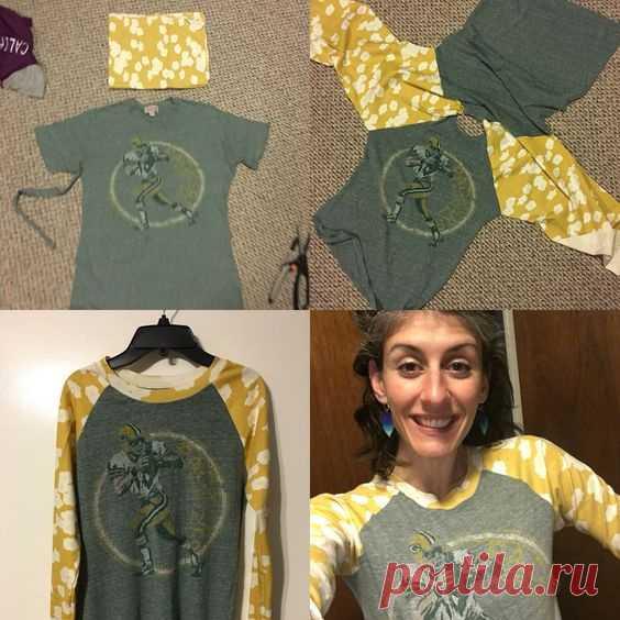 Переделка футболки в тишотку (Diy)