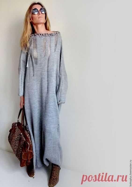 Платье в стиле бохо со спущеными петлями