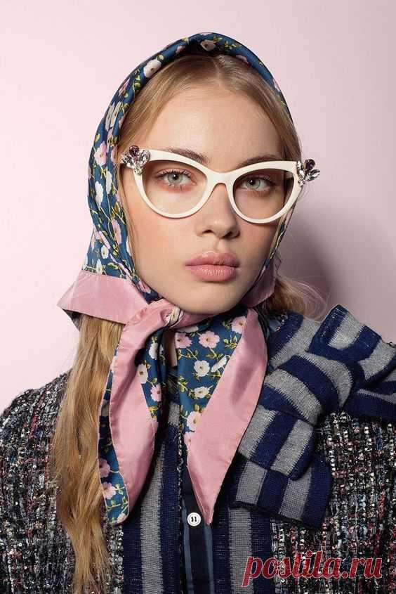 Модные и красивые платки на голову 2021