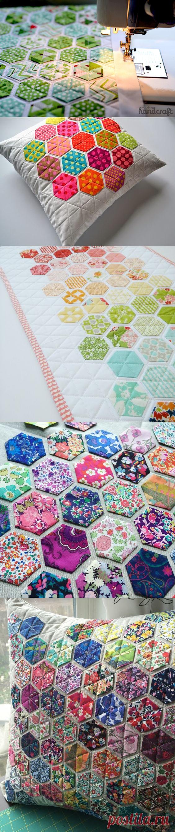 Подушки с красивыми лоскутными узорами — Сделай сам, идеи для творчества - DIY Ideas