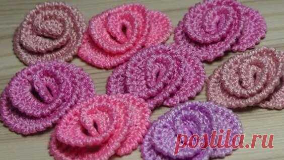 Вы не поверите - КАК Просто Вязать ЭТИ Цветы! How to crochet a flower - Яндекс.Видео