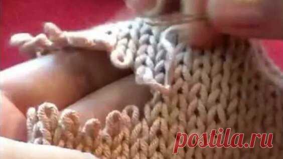 2. Трикотажные швы. Невидимый шов Петля в Петлю Grafting knitting #knitting #crochet - Яндекс.Видео