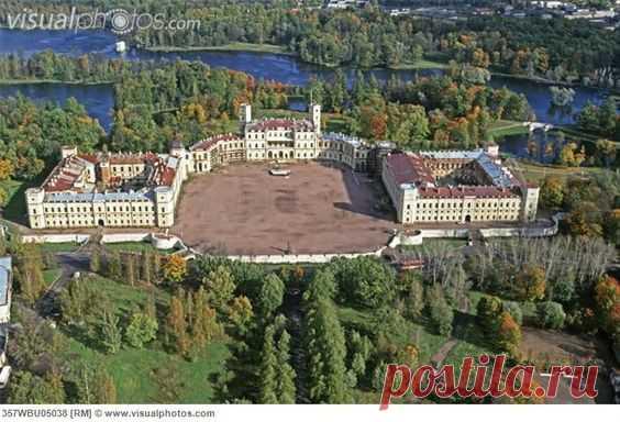 palace at Gatchina | Russia, Gatchina. Palace by A. Rinaldi (1766) aerial view [357WBU05038 ...  |  Castles/Cool Buildings