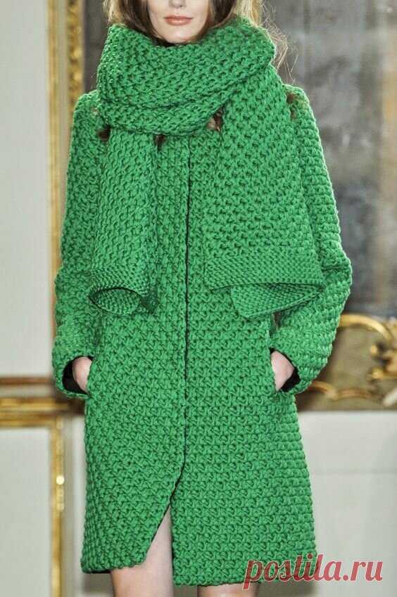 Вязаное пальто как альтернатива шитому. Красивая подборка фото с изделиями. | Вяжу для души | Яндекс Дзен