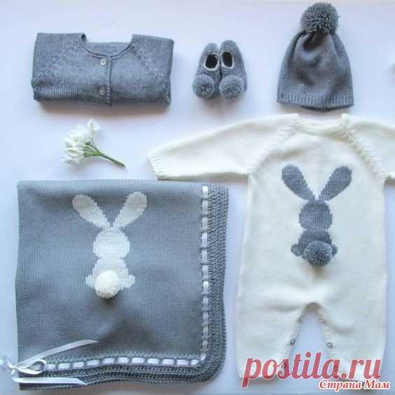 . Комплект для новорожденной - Вязание - Страна Мам