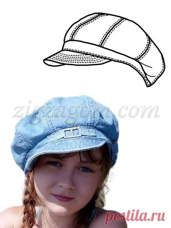 (422) Pinterest - Выкройка кепки-восьмиклинки   модели