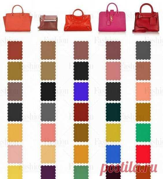Какого цвета подобрать туфли к сумочке? Полная палитра цветов