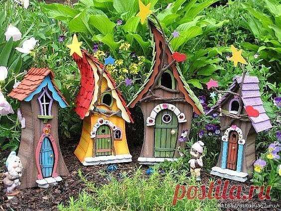 Миниатюрные домики. Декор сада