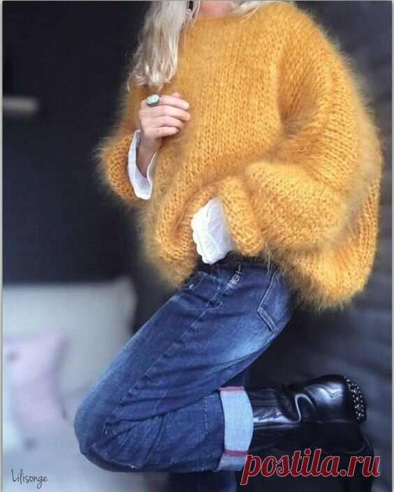 Подборка стильных кардиганов и свитеров, связанных из мохера   Только handmade   Яндекс Дзен