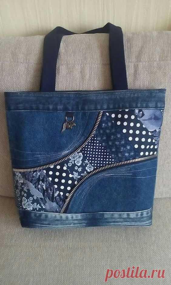 9ad4e5452f71 Сумки из джинсовой ткани: идеи, выкройки. | Лоскутное шитье | Постила