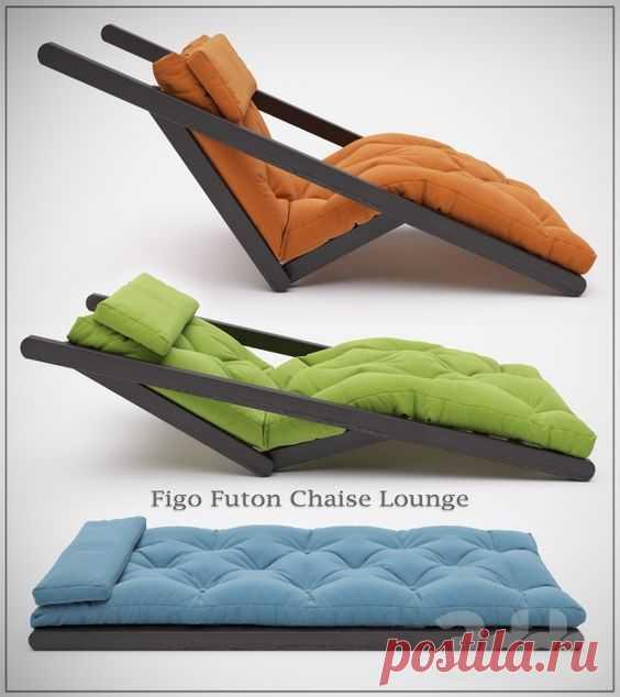 3d модели: Другая мягкая мебель - Figo Futon Chaise Lounge