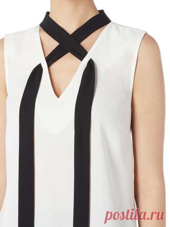 Декор платья шарфом Модная одежда и дизайн интерьера своими руками