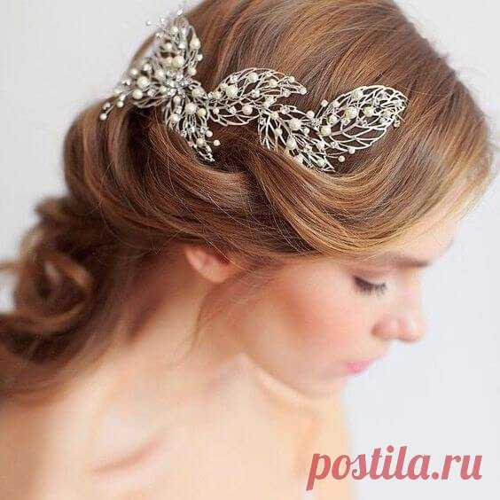 Свадебные украшения для волос: 30 идей для вдохновения