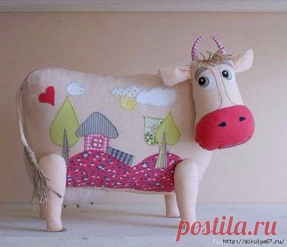 Текстильные коровушки. Выкройки