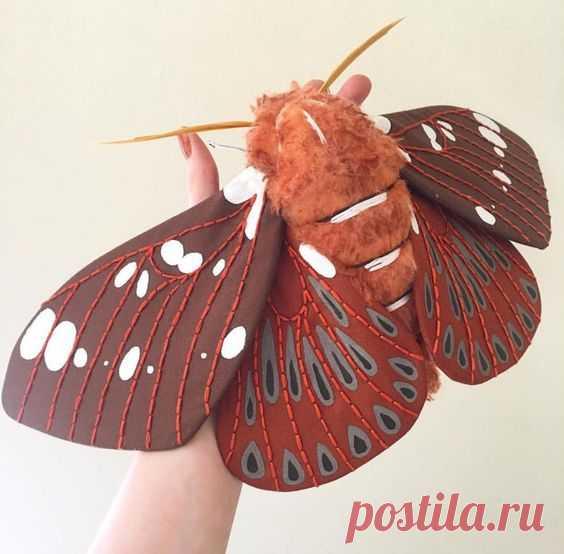 Потрясающие текстильные мотыльки от Molly Burgess