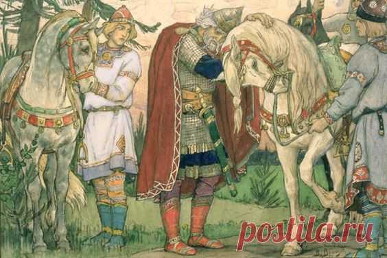 В. Васнецов. Прощание Вещего Олега с конем, 1899