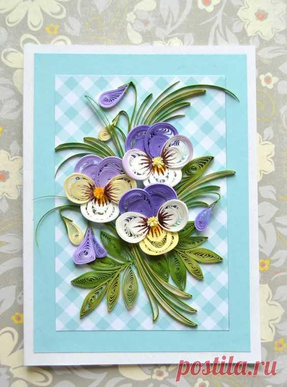 Квиллинг открытки мастер класс цветы, огромного
