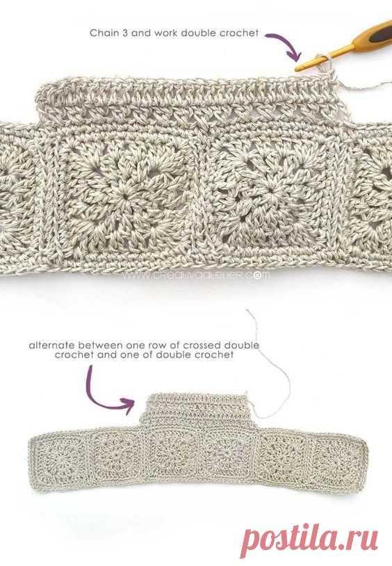 Summer is coming and it is time to prepare the closet and crochet a Fabric and Granny Squares Dress to enjoy this season. You will need few materials and you can make this dress so quickly that…