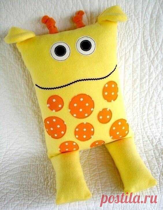 Подушка-игрушка своими руками: 25 идей для вдохновения