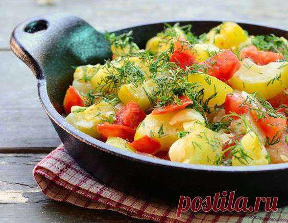 Гарнир из кабачков с помидорами и перцом - рецепт приготовления с фото от Maggi.ru