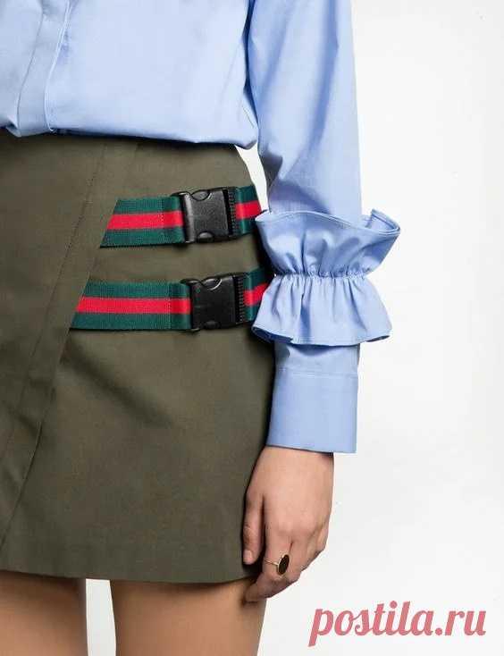 Юбка на ремнях Модная одежда и дизайн интерьера своими руками