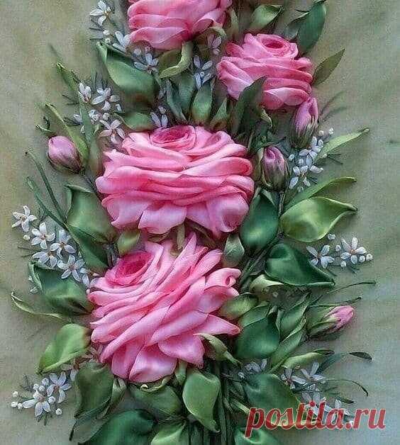 Великолепные цветы из лент: восхитительные идеи для творчества
