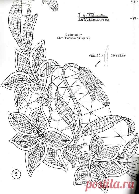румынское кружево схемы - 14