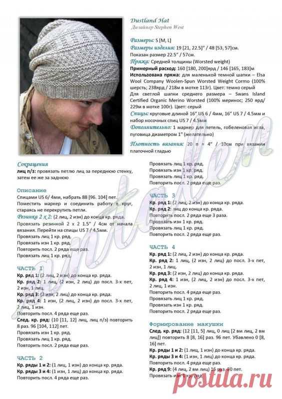 Вязание шапок Бесплатные схемы вязания спицами шапок для