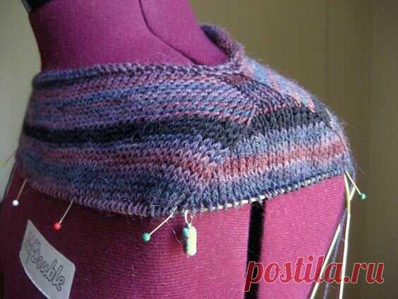 Имитация втачного рукава - вязание без швов   Вязание спицами и крючком   Яндекс Дзен