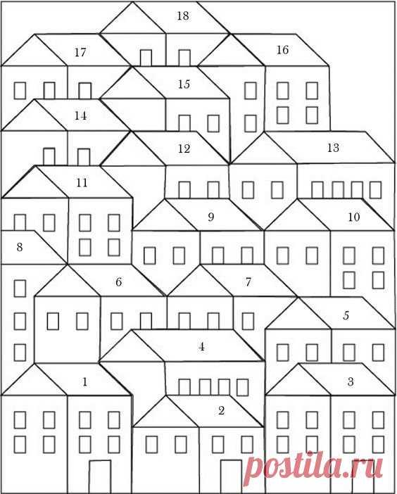 Лоскутное шитье, блок домики / Пэчворк, лоскутное шитье, квилтинг для начинающих - техника, мастер класс, фото, схемы / КлуКлу. Рукоделие - бисероплетение, квиллинг, вышивка крестом, вязание