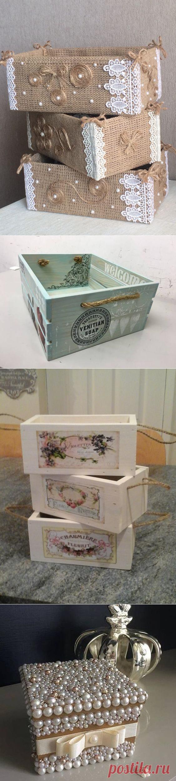 Идеи декоративных ящиков для хранения мелочей / Я - суперпупер