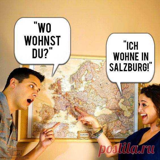 Немецком на ситуация знакомство