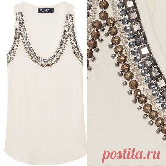Clothes decor beads, beads and pastes: 33 ideas — Master classes on BurdaStyle.ru