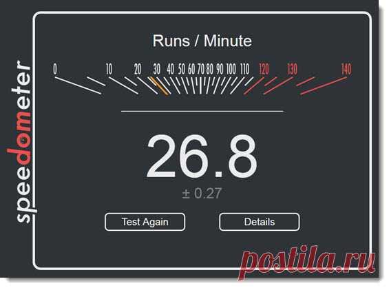 Узнай «скорость» своих браузеров.   Халява в Интернете