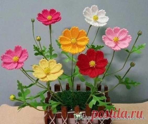 весенние полевые цветы крючком схема Handmade Paradise весенние