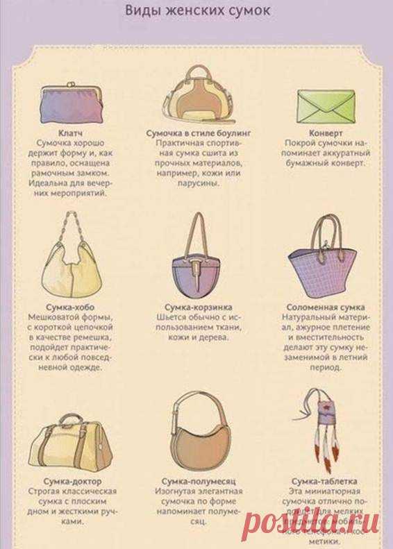 b0846d9bc5f9 Виды женских сумок - Glamly.ru - сайт о моде и стиле   СТИЛЬ   Постила