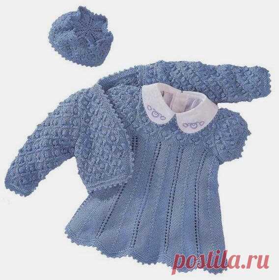 Болеро, платье и шапочка для девочки (Вязание спицами) – Журнал Вдохновение Рукодельницы