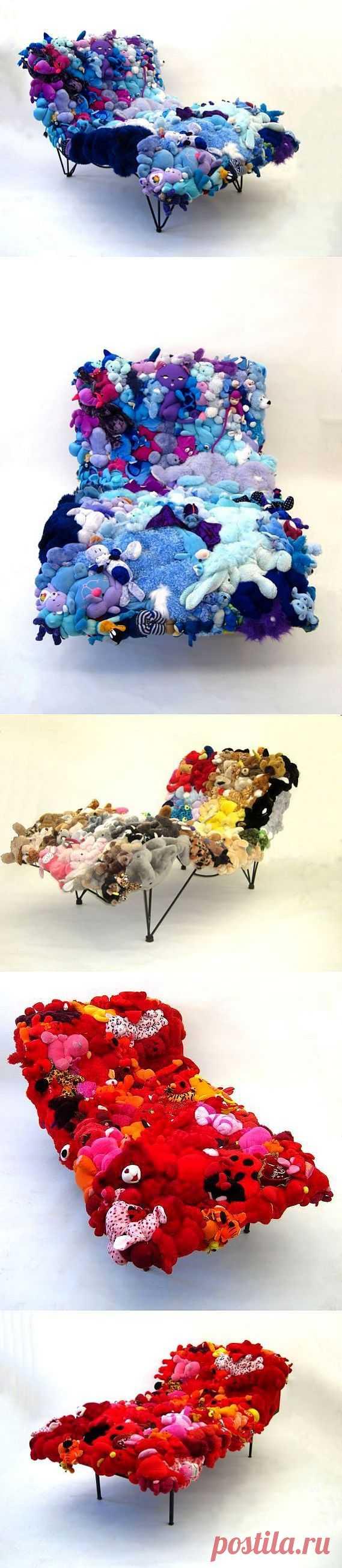 Подборка кушеток из мягких игрушек / Мебель / Модный сайт о стильной переделке одежды и интерьера