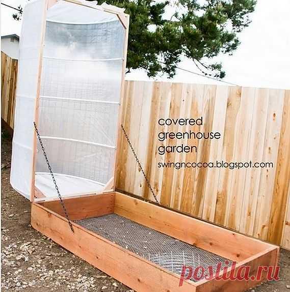 Интересные идеи для теплиц и клумб на участках..
